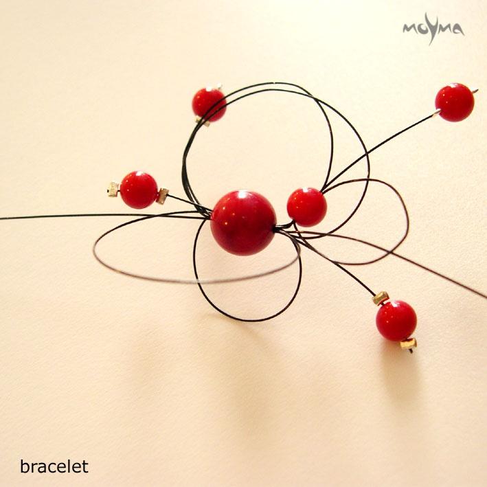 Coral Orbit Bracelet