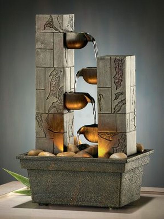 23 Unique Small Fountain Design Ideas For Indoor Small Fountains Home Fountain Diy Fountain