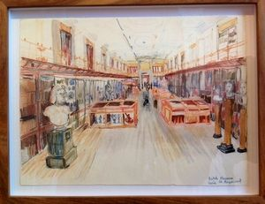 'British Museum Gallery I'   Pencil Crayon & Watercolour 380 x 290 mm   R 2 800 SOLD