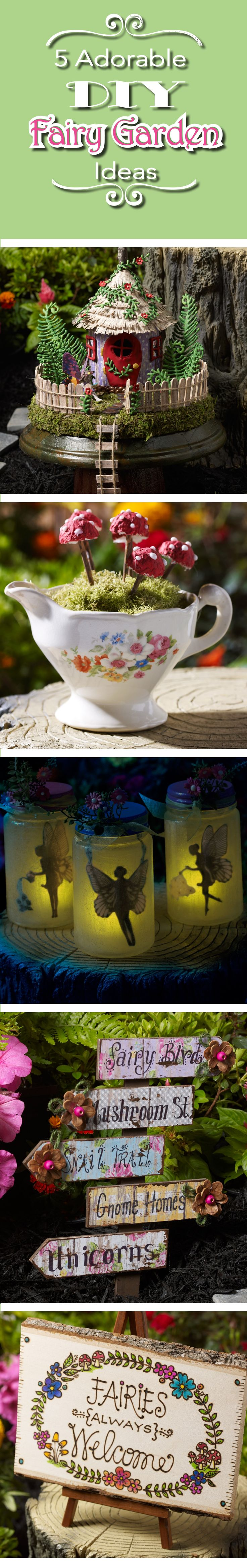 Absolute cutest fairy garden DIY ideas and tutorial! So in love with the teacup fairies and mason jar fairy light craft - can't wait to make my own!