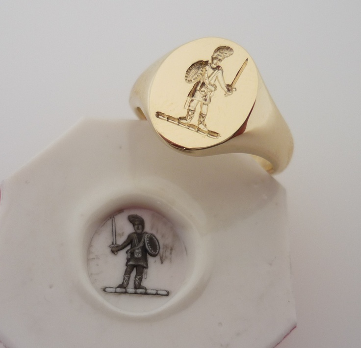 All Gold Seal Engraved Signet Ring Ds Amp P Signet Rings