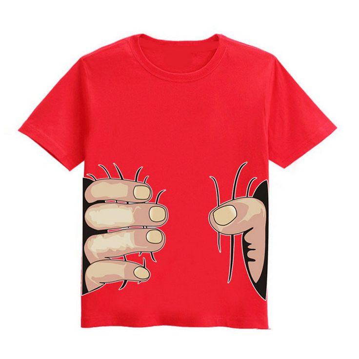 2016 Новое Прибытие Мода Дети Футболки 3D Большая Рука Захватить вы Смешная Детская Одежда С Коротким Рукавом Летом Пародия Мальчик Девочка Футболка #hats, #watches, #belts, #fashion, #style