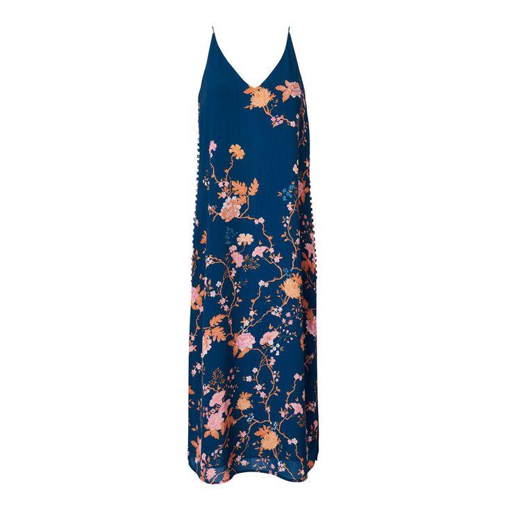 Gracie Slip Dress, in Oriental Blossom