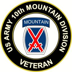 US Army Veteran 10th Mountain Infantry Division Sticker