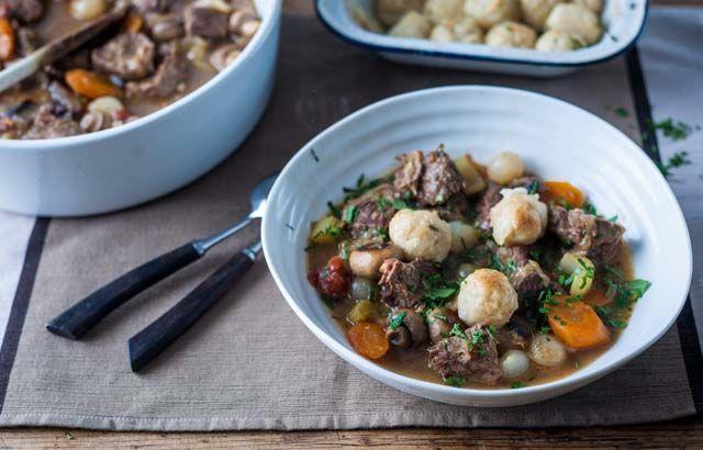 Beef stew and dumplings