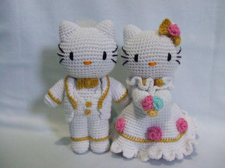Hello Kitty Wedding Amigurumi ^.^ Pinterest Kitty ...