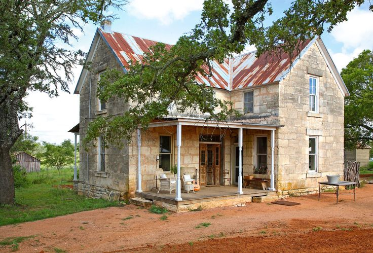 A must see renovation of a 19th century stone house in for Texas hill country homes