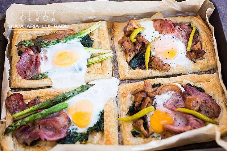 Tarte mic dejun. Foietaj cu bacon, oua, ciuperci...Inclusiv reteta video.