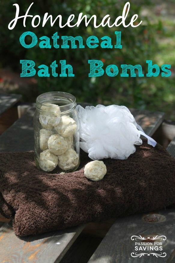 Homemade Oatmeal Bath Bombs for an Easy DIY Craft or Homemade Gift Idea for Christmas!
