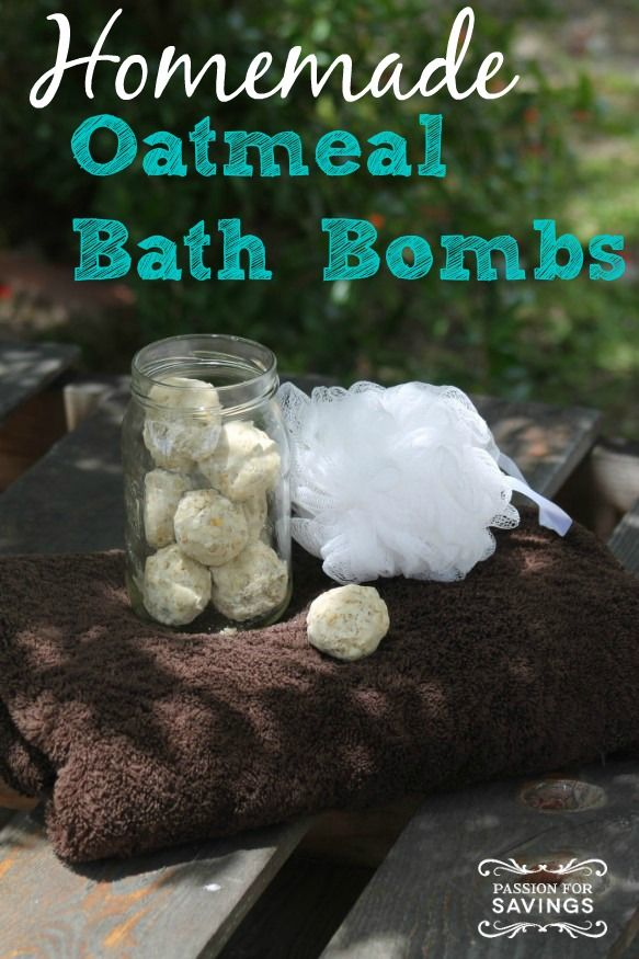 Homemade Oatmeal Bath Bombs! Quick and Easy Bath Balls to help relax and refresh! DIY Beauty Products!