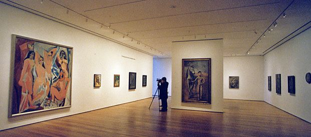 Les Demoiselles d'Avignon, 1907 by Pablo Picasso.