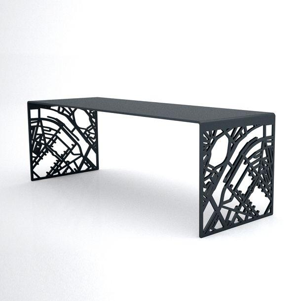 metal furniture design. Plasma Cut Steel Bench | Furniture And Design Concepts Pinterest Cutting, Metal