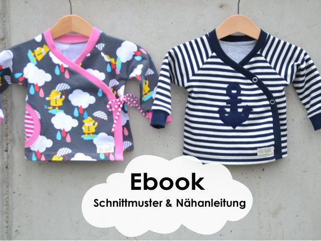 """""""Wickeljäckchen"""" Baby-Jäckchen / Schnittmuster und Nähanleitung - Schnittmuster und Nähanleitungen bei makerist"""