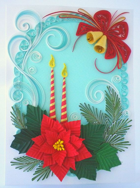 Winter tale greeting card Quilling Greeting card by QuillyVicky