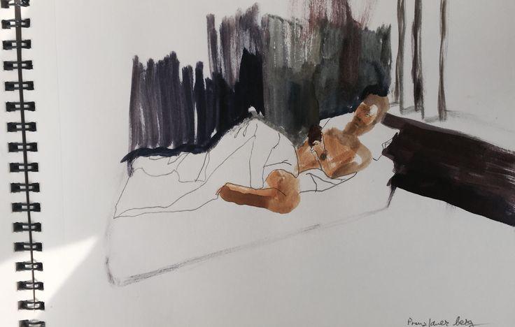 A.,Watercolor in paper, 2015, Lu Jindrak Skrivankova