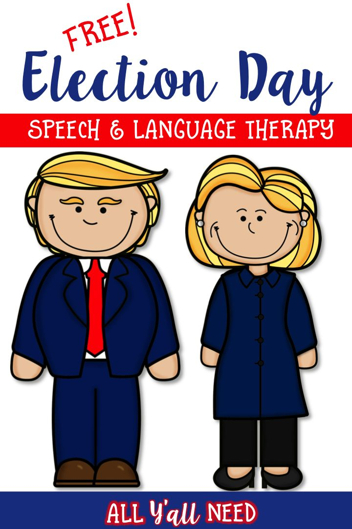 Speech & language therapy activities just for Election Day 2016! Help younger elementary students learn vocabulary, categorization, & Wh- questions. Plus, there are book suggestions, a homework page and data sheets. FREE!