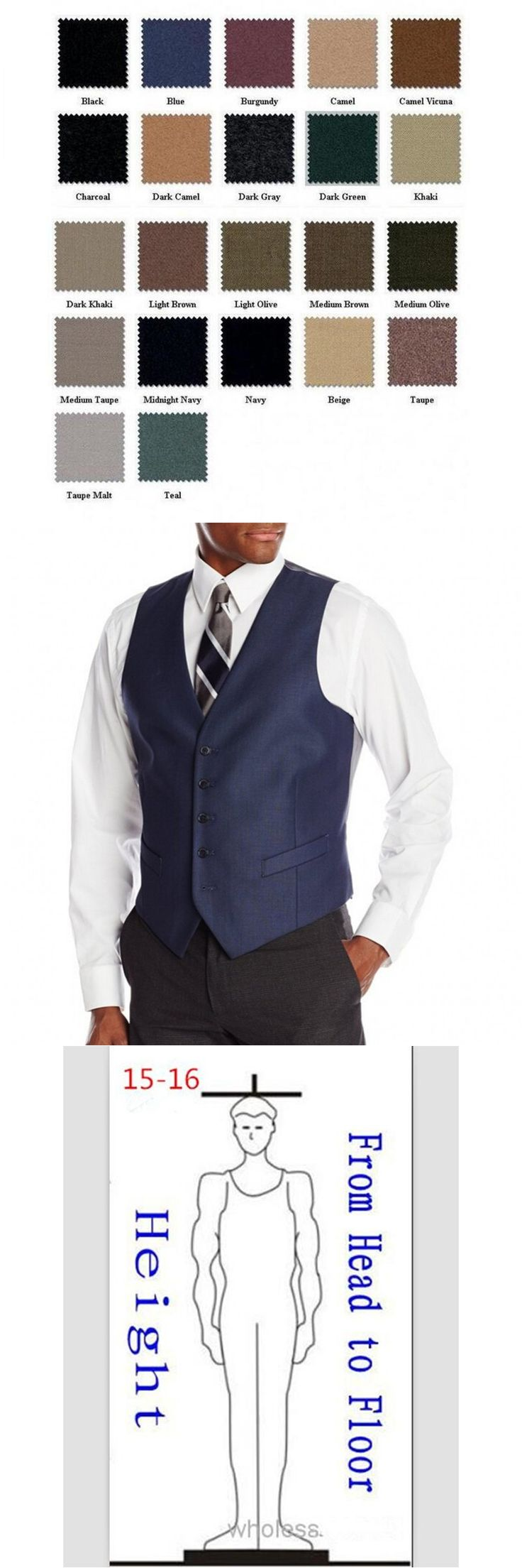 New High Quality Men's Business Suit Slim Formal Casual Waistcoat Black Navy Blue Vest Fit Suits Wedding Costumes