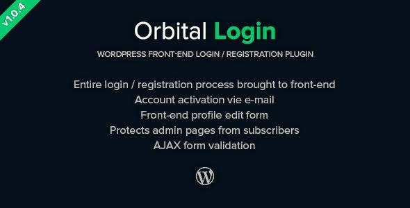 Orbital Login - Login / Register WordPress Plugin
