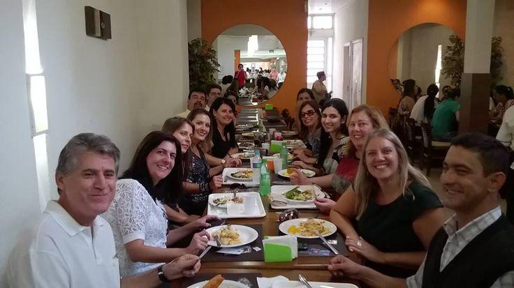 10/04/2015 - Fiscais de Santos, SP, comemorando o aniversário da Cristiane Andrade