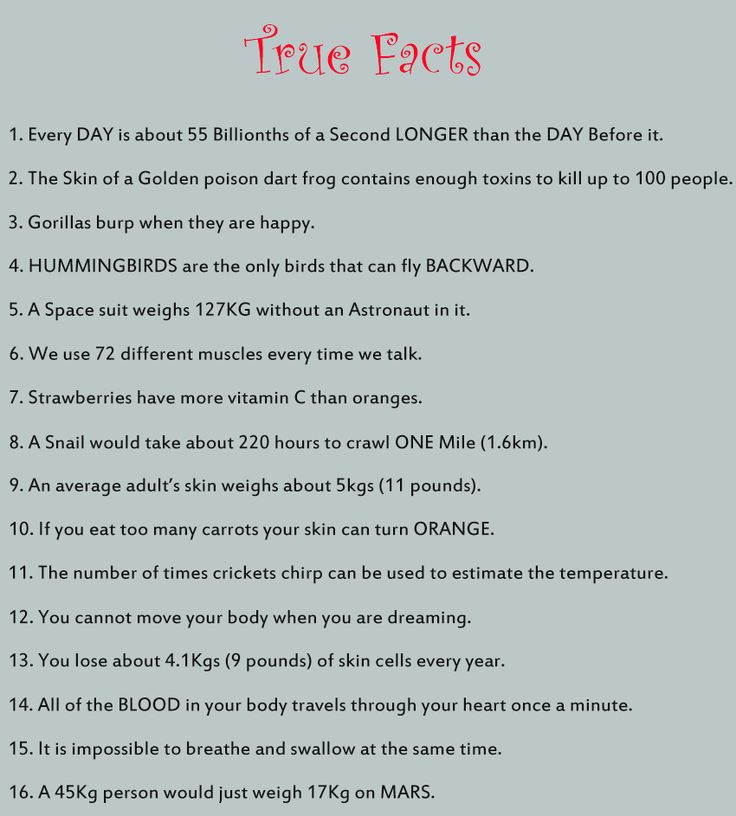 strange facts | ... in more weird but true facts, check out Weird But True .[/box