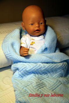 emilia y sus labores de punto: Mantita para bebé