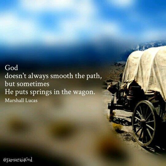 """Marshall Lucas: """"Dios no siempre allana el camino, a veces Él le pone amortiguadores a la carroza."""""""