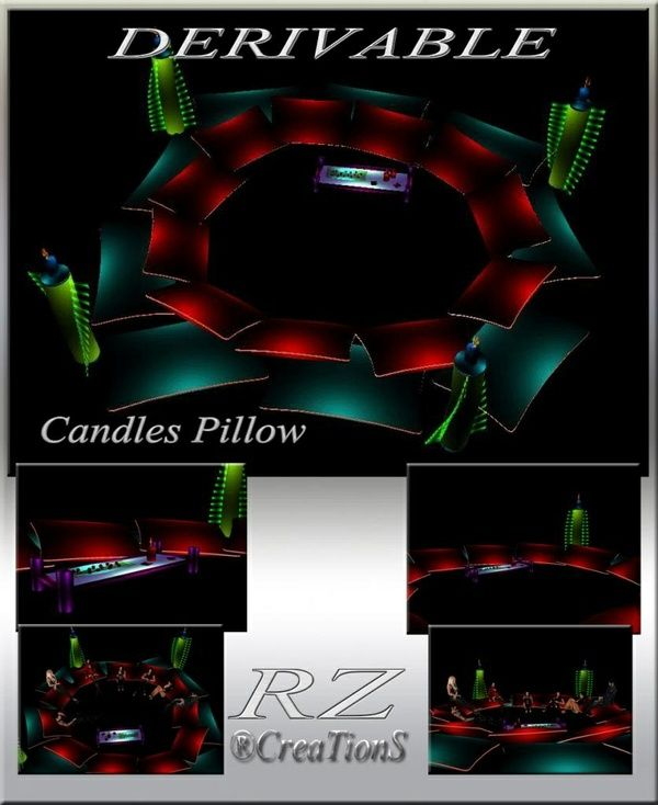 176. Candles Pillow With 7 Poses Mesh Furniture