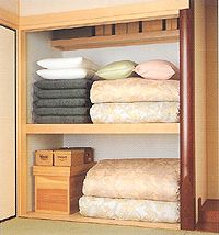 Japanese style closet for storing futon