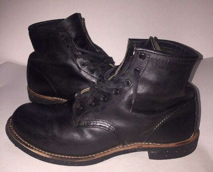 Red Wing Heritage 9014 6-Inch Beckman Round Black Men's Boots 9.5D | Clothing, Shoes & Accessories, Men's Shoes, Boots | eBay!
