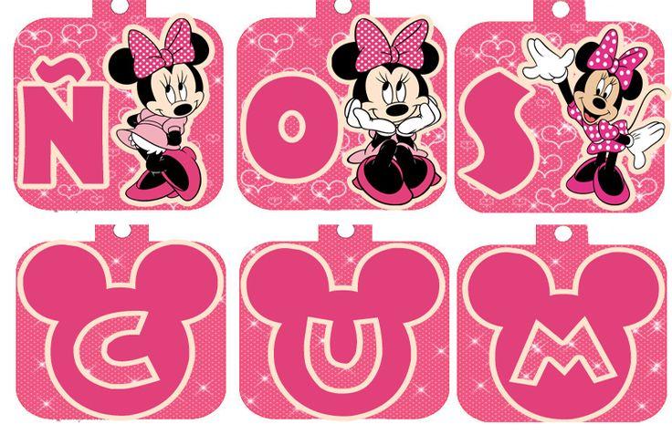 Decoracion Minnie Rosada ~ set Imprimible De Minnie Mouse Rosada 90 Plantillas Cnv13  Maracaibo