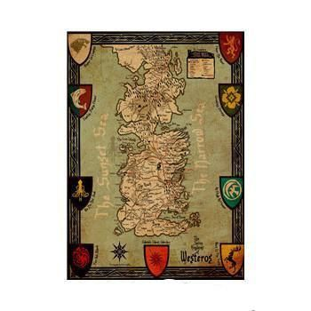 Collectible Westeros World Map Poster