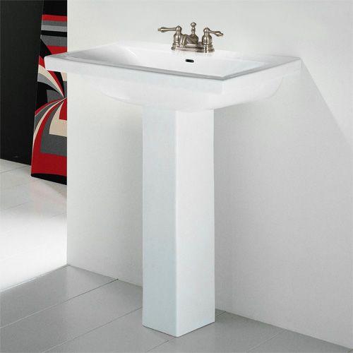 Jessup Rectangular Vessel Sink Bathroom Pedestal And