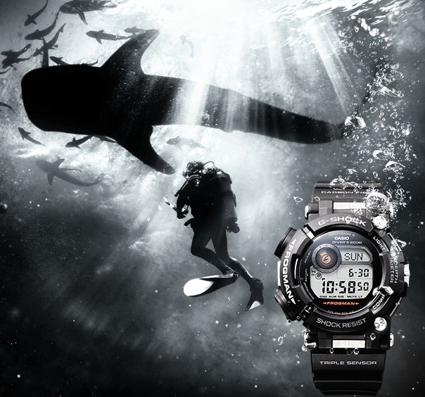 The new FROGMAN is a high-end model for divers.  #casio #frogman #divers