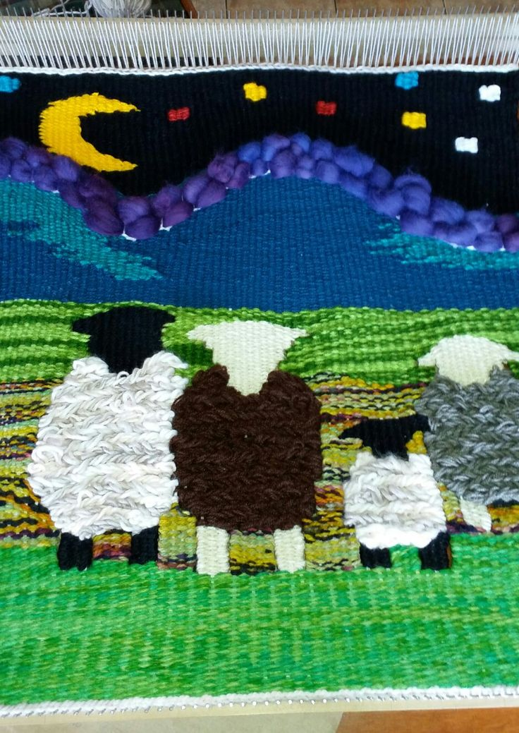 Telar de ovejas de Magallanes.