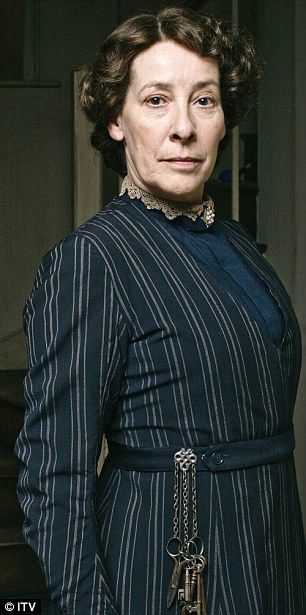 Phyllis Logan as housekeeper Elsie Hughes in Downton Abbey