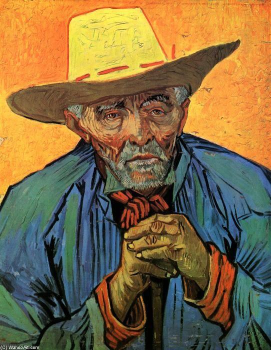 """""""Retrato da paciência Escalier (2)"""", óleo sobre tela por Vincent Van Gogh (1853-1890, Netherlands)"""