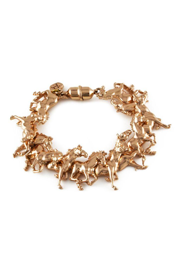 rose gold horse bracelet