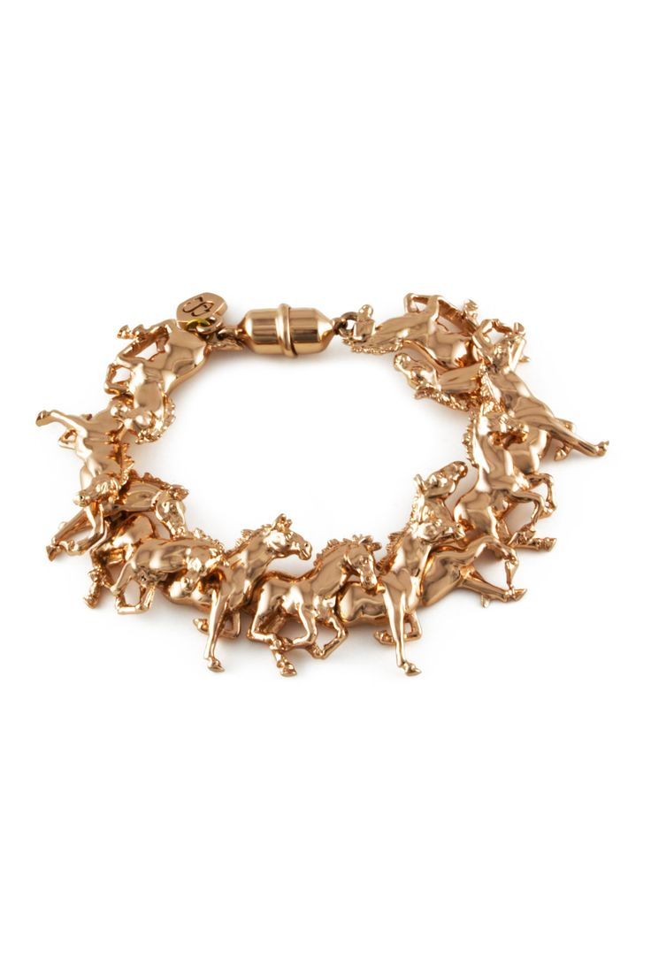 Bill Skinner Rose Gold Horse Bracelet
