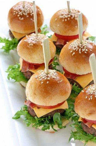 Burger mit Stiel