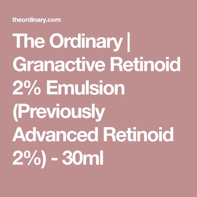 The Ordinary | Granactive Retinoid 2% Emulsion (Previously Advanced Retinoid 2%) - 30ml