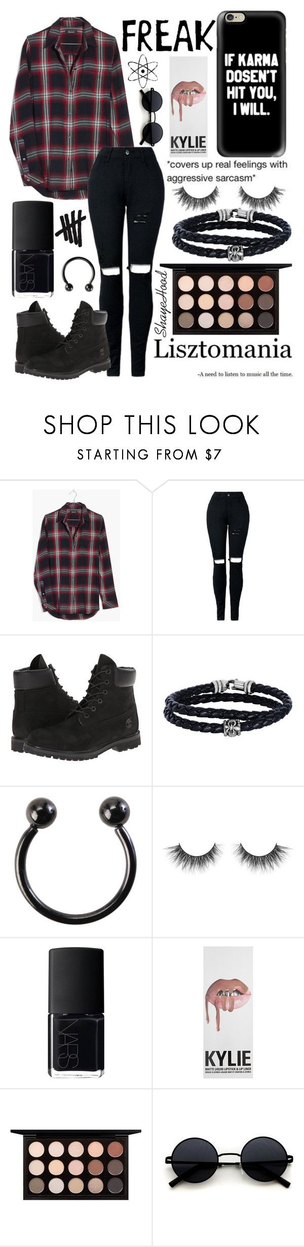 """""""23/11/2O17"""" by shayehood on Polyvore featuring mode, GUSTA, Madewell, Timberland, Phillip Gavriel, Hot Topic, NARS Cosmetics et MAC Cosmetics"""