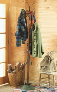 Coat Rack made out of Skis