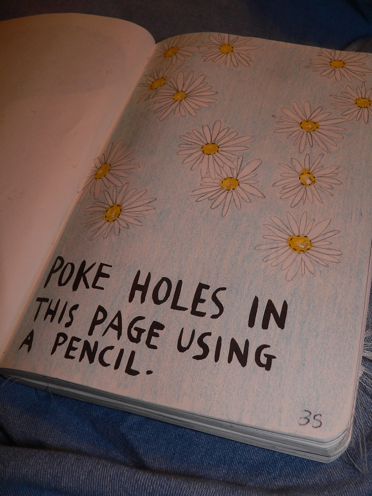 Poke holes in this page using a pencil. | // wreck this ...