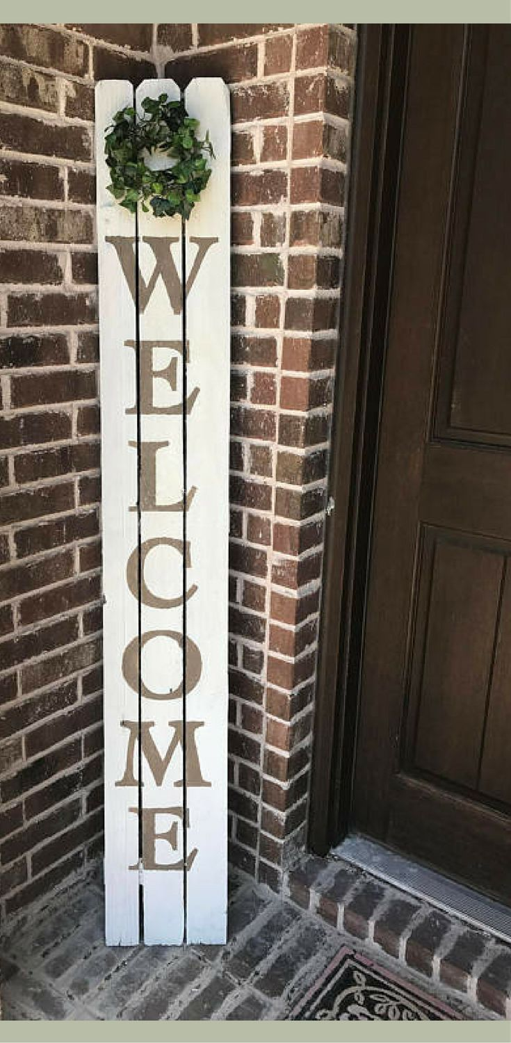 I love this style of sign for the front door! Farmhouse sign, Fixer Upper Sign, Farmhouse porch decor, Farmhouse Decor, Rustic decor Sign, Farmhouse Welcome Sign, Reclaimed Wood, Farmhouse shiplap sign #ad