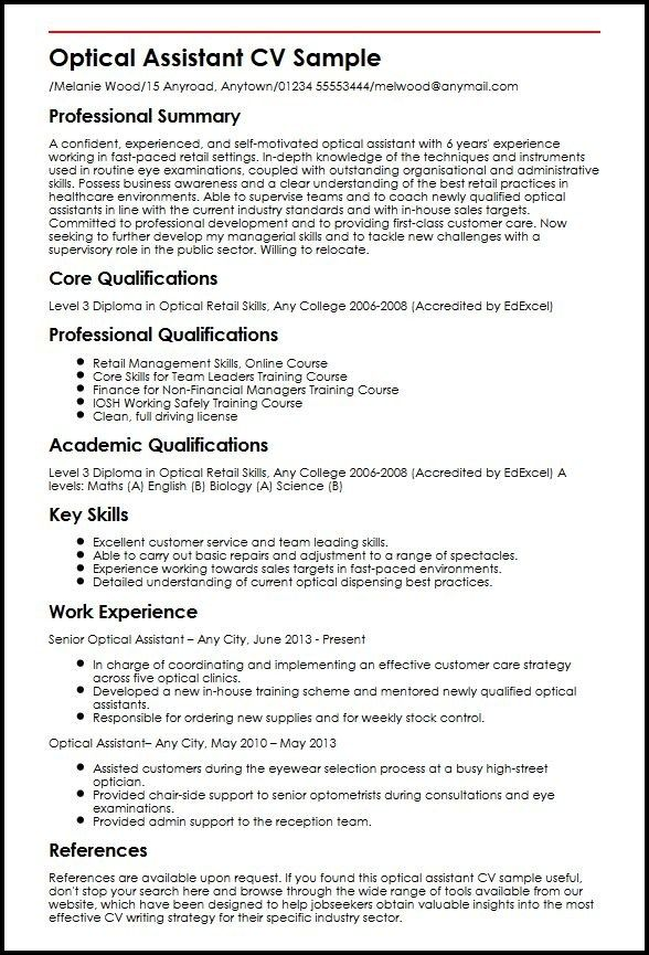Cool Cv Template Uk Retail Picture