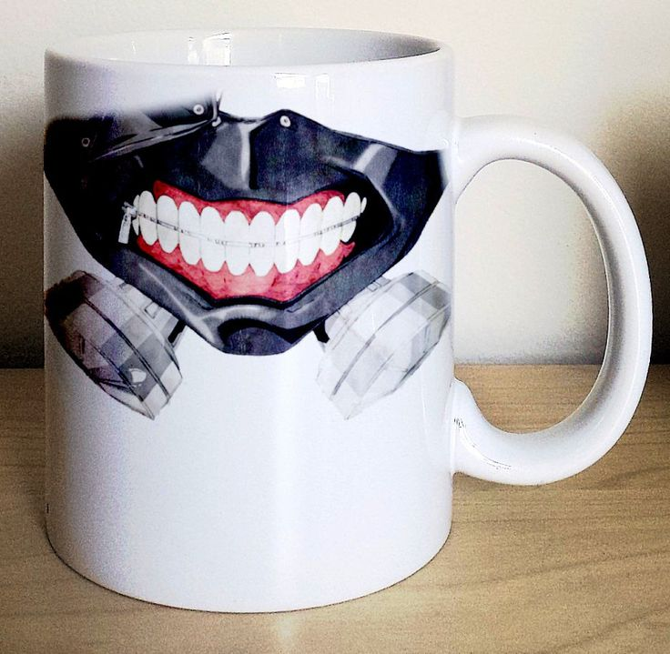 Transform yourself into Kaneki Ken each time you take a sip from this novelty Tokyo Ghoul mug. Instead of devouring human flesh, you can instead savor coffee from the Anteiku Café to satisfy your cravings #tokyoghoul #kanekiken #anime #merchandise