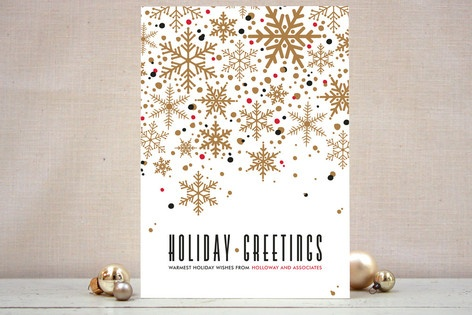 Sophisticated Snow Business Holiday Cards by Pistols available through Orpheus Photography