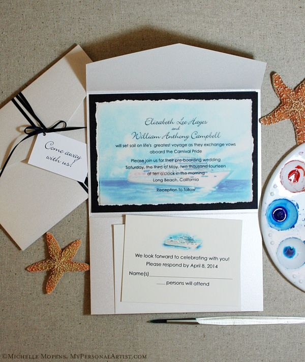 Cruise Ship Theme Pocket Folder Invitations OK Not Because Carnival Is On The Invitation But Pretty