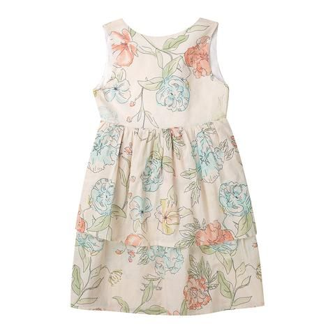 Lila girls dress - floral cotton voile for Minouche by Australian textile designer Ellie Whittaker.