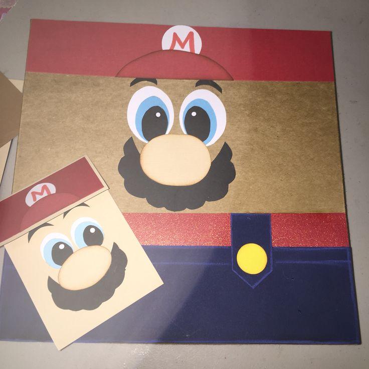 Caja de regalo y tarjeta Mario Bros.